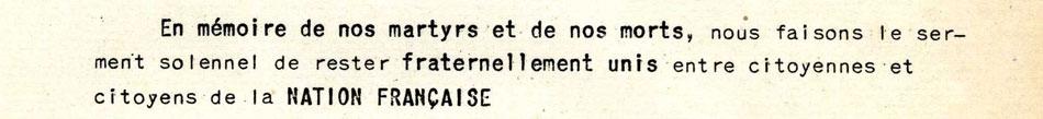 Libération Nord Serment aux patriotes français