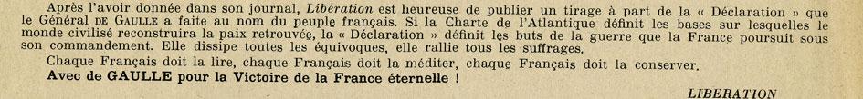 Déclaration du Général de Gaulle