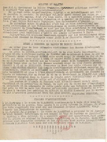 Libération, édition zone occupée, n°115 du 9 février 1943