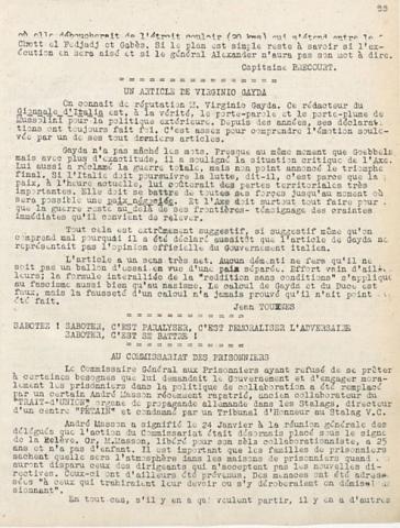 Libération, édition zone occupée, n°117 du 23 février 1943