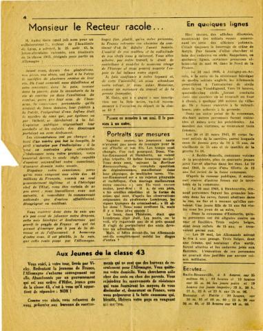 Libération n°149, édition zone nord du 5 octobre 1943 (page 4)