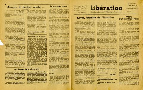 Libération n°149, édition zone nord du 5 octobre 1943