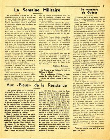 Libération, n°151, édition zone nord du 19 octobre 1943 (page 3)