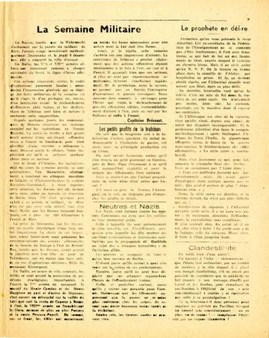 Libération, n°159, édition zone nord du 14 décembre 1943 (page 3)