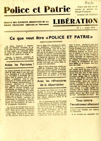 Journal de Police et Patrie (recto)