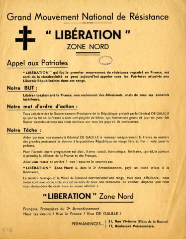 Appel aux patriotes du 2e arrondissement de Paris