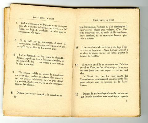 Conseils à l'Occupé - pages 10 et 11