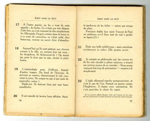 Conseils à l'Occupé - pages 14 et 15