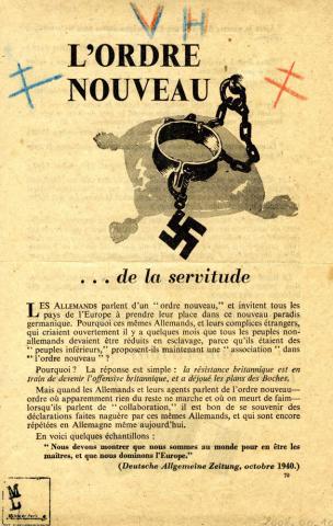 """Tract """"L'ordre nouveau… de la servitude""""."""