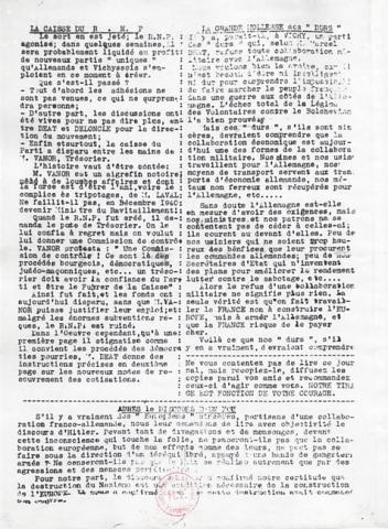 """Journal """"Libération, L'Hebdomadaire des Français libres"""" n°44 (verso)"""