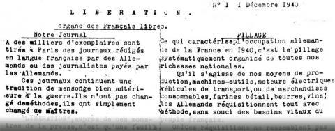 Libération N° 1 (1/12/1940)