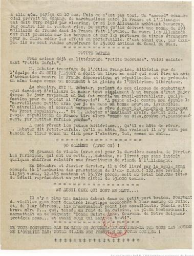Libération-Nord, édition zone occupée, n°118 du 2 mars 1943 (BNF)