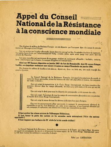 Appel du Conseil National de la Résistance