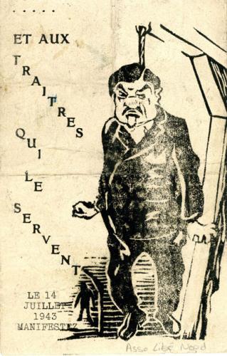 Tract anti-nazi et contre Laval