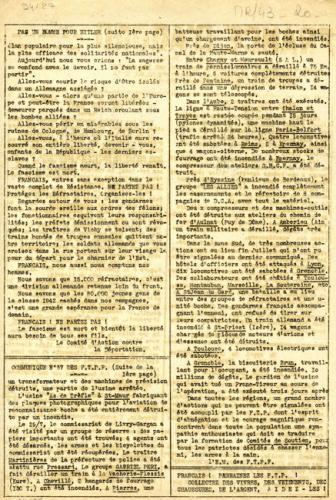 Journal France d'abord n°30 du 20 août 1943 (verso)