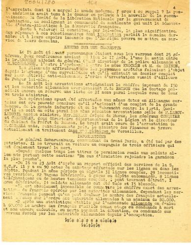 Libération, n°144, édition zone nord du 31 août 1943 (page 4)