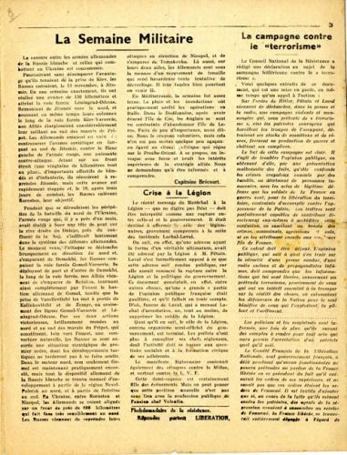 Libération, n°156, édition zone nord du 23 novembre 1943 (page 3)