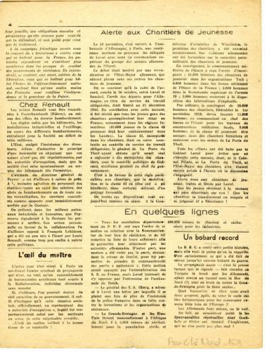 Libération, n°156, édition zone nord du 23 novembre 1943 (page 4)