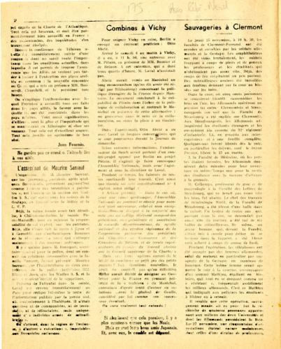 Libération, n°159, édition zone nord du 14 décembre 1943 (page 2)