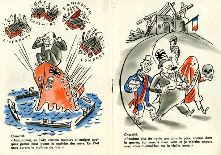 """Livret """"Paroles dorées de Mr. Churchill adressées à la Nation Française"""""""