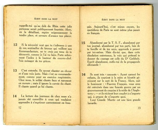 Conseils à l'Occupé - pages 12 et 13