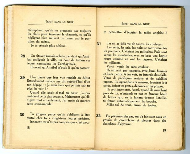 Conseils à l'Occupé - pages 18 et 19