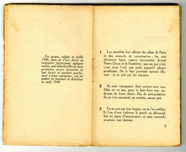 Conseils à l'Occupé - pages 8 et 9