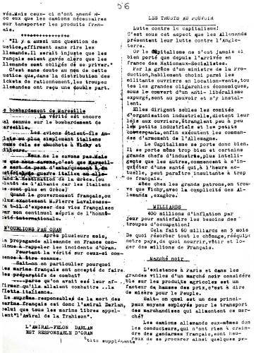 """Journal """"Libération Organe des Français libres"""" n°1"""