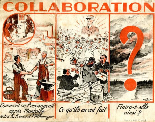 Tract  vichyste en faveur de la collaboration franco-allemande