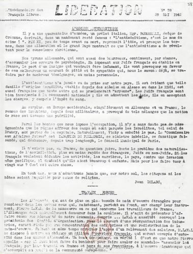 Libération, n°78 du 29 mai 1942