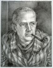 Christian Pineau, Camp de Buchenwald, 1945, crayon sur papier - Boris Taslitzky