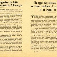 Tract des militants syndicalistes