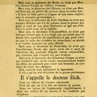 Tract dénonçant les journaux collaborationnistes