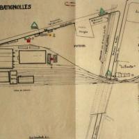 Plan du dépôt des Batignolles (Paris 17e)