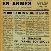 Journal La France en armes évoquant la libération de la Corse en septembre 1943 (page 1)