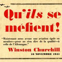 Tract anglais avertissant la population française des bombardements de l'aviation britannique visant les entreprises travaillant pour l'Allemagne
